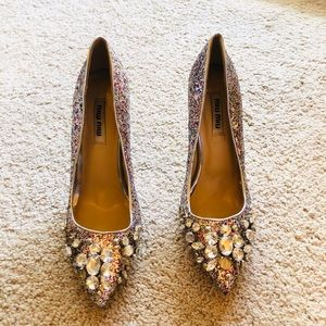 Miu Miu Embellished Pumps